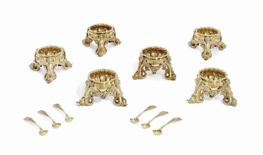 A SET OF SIX VICTORIAN SILVER-