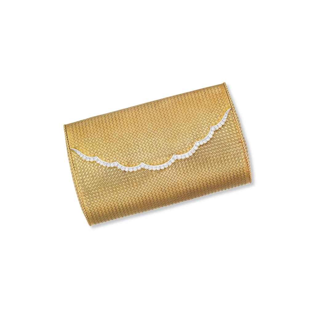 A DIAMOND AND GOLD BAG