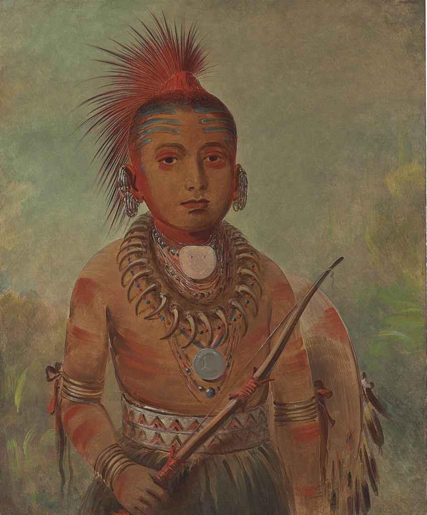 George Catlin (1796-1872) , Commanding General, a boy (Wa ...