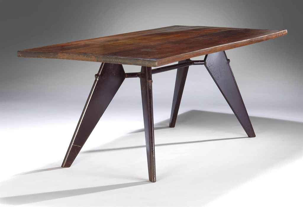 jean prouv 1901 1984 table de salle manger. Black Bedroom Furniture Sets. Home Design Ideas