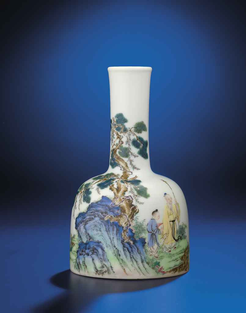 AN IMPORTANT AND VERY FINE INSCRIBED FALANGCAI ENAMELLED 'LO...