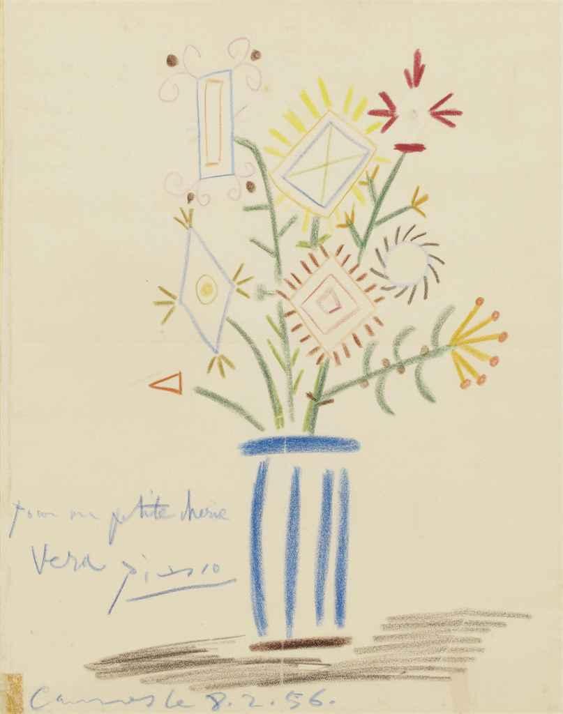 Pablo picasso 1881 1973 bouquet de fleurs christie 39 s for Picasso petite fleurs