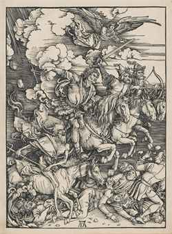 The Four Horsemen of the Apocalypse, from: The Apocalypse (B. 64; M., Holl. 167; S.M.S. 115)
