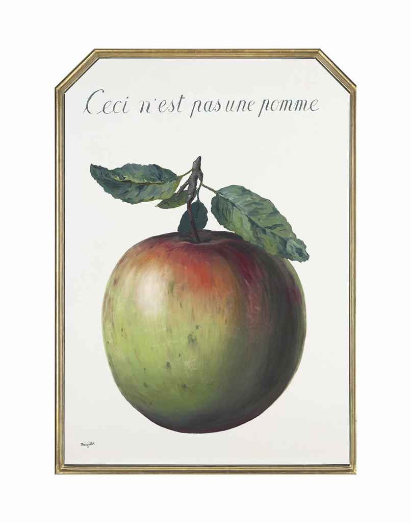ren magritte 1898 1967 ceci n 39 est pas une pomme this is not an apple christie 39 s. Black Bedroom Furniture Sets. Home Design Ideas