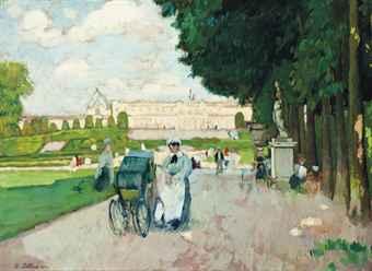 Henri ottmann 1877 1927 promenade au jardin du for Au jardin welkom