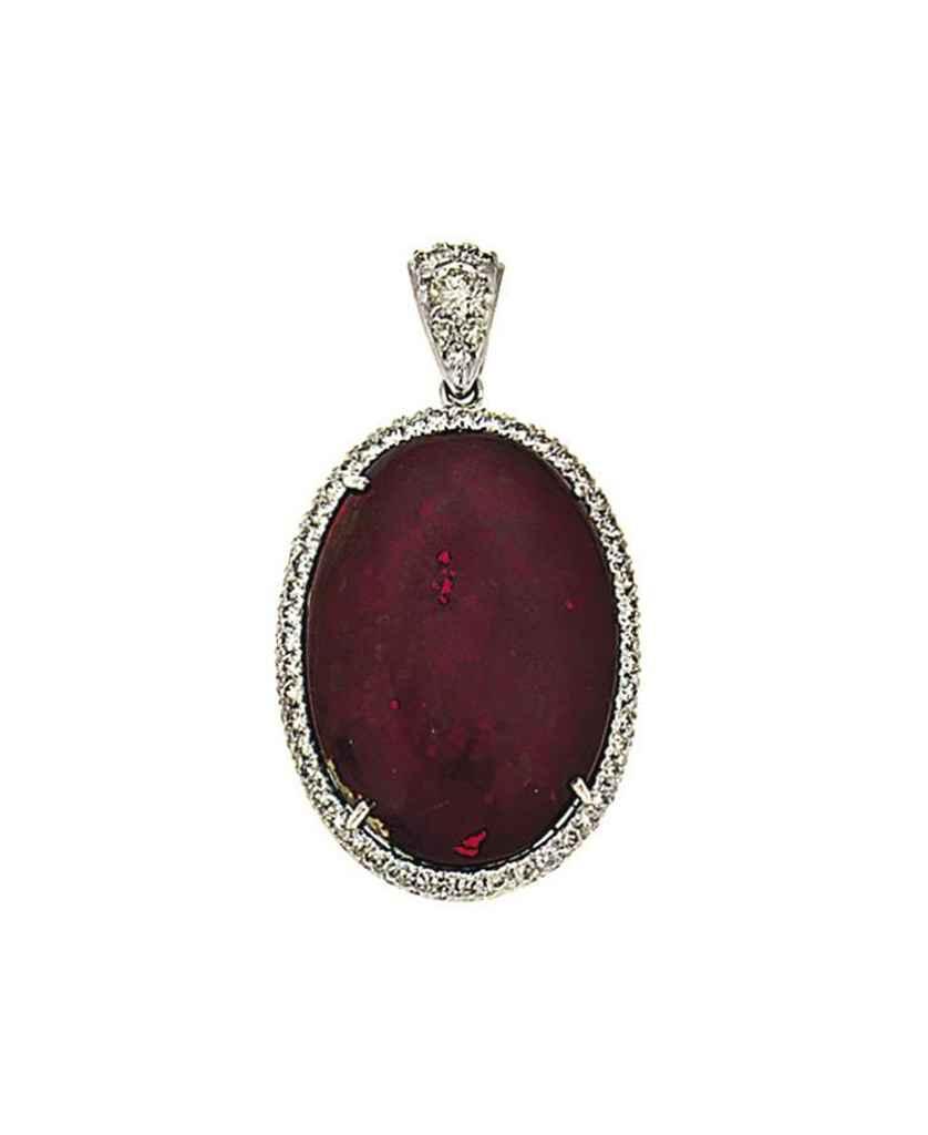 A diamond and boulder opal pen