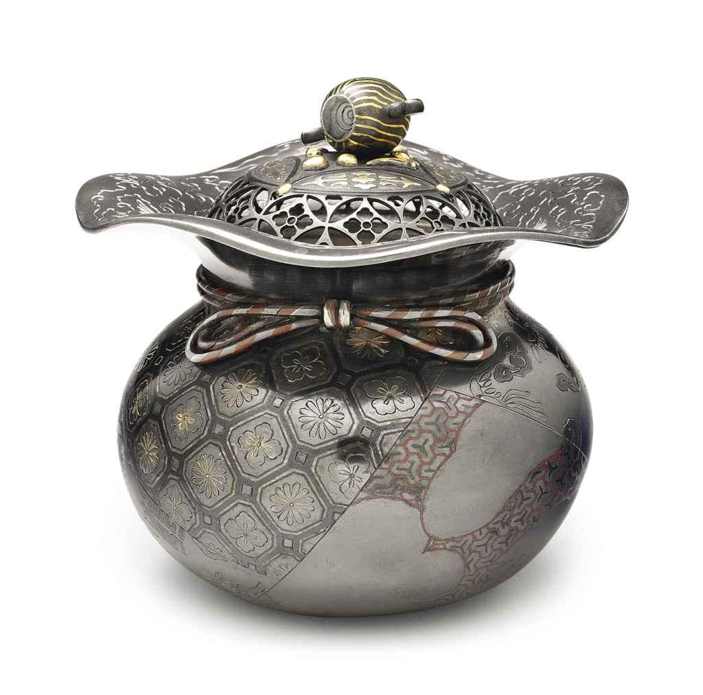 A inlaid-silver incense burner