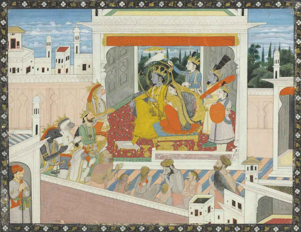 a folio from the ra ana the coronation of rama guler a folio from the ra ana the