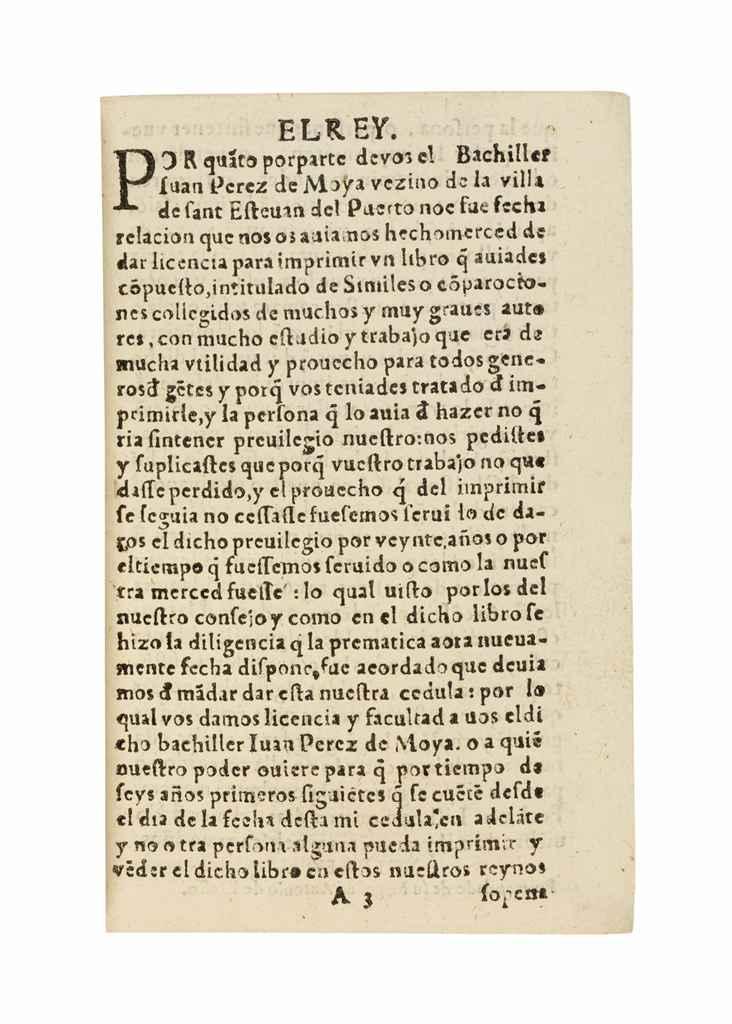 PEREZ DE MOYA, Juan (1513-1597