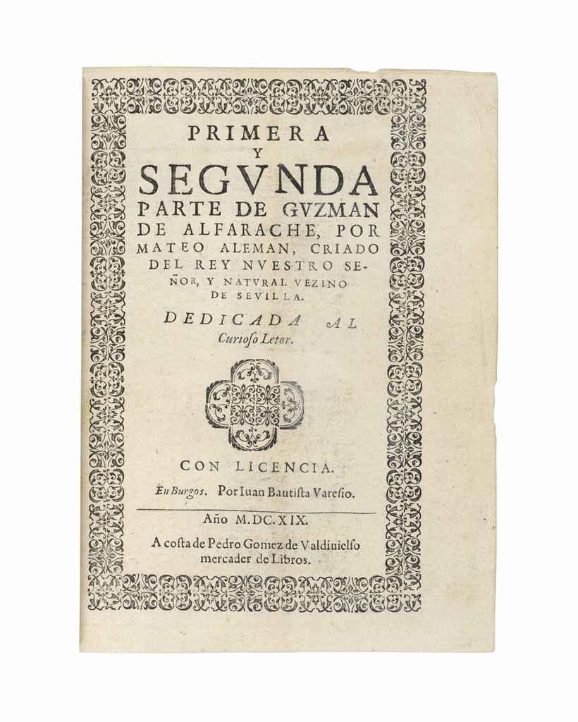 ALEMÁN, Mateo (1547-1615). Pri