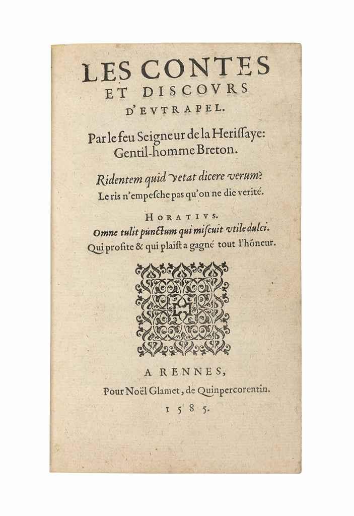 [DU FAIL, Noël (c.1520-c.1585)