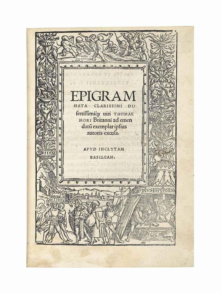 MORE, Thomas (1478-1535). Epig