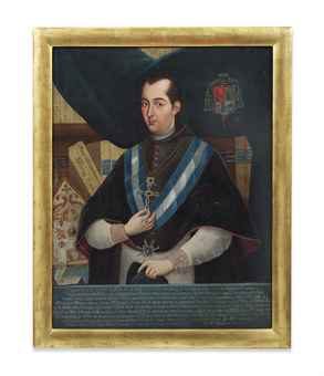 Portrait of Alonso Nuñez de Haro y Peralta (1729-1800), Archbishop of Mexico (1772-1800), half-length, in priestly robes