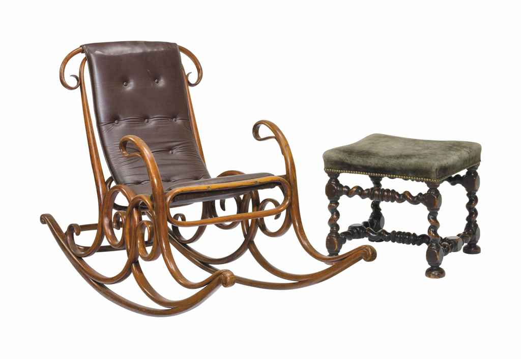 an austrian bentwood rocking chair thonet designed in 1867