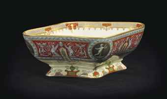 A PORCELAIN SERVING BOWL FROM THE RAPHAEL SERVICE