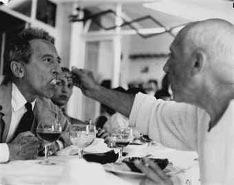 Jean Cocteau y Picasso, 1955