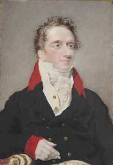 A portrait of Sir Ralph James Woodford, 2nd Bt, Governor of Trinidad (1784-1828), seated, small half length