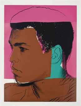 andy warhol muhammad ali one plate f s prints multiples auction 1970s. Black Bedroom Furniture Sets. Home Design Ideas