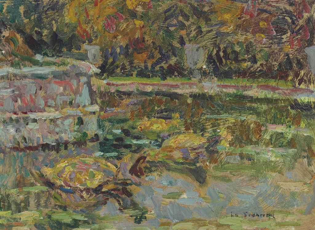 henri le sidaner 1862 1939 les tortues du bassin de latone christie 39 s. Black Bedroom Furniture Sets. Home Design Ideas