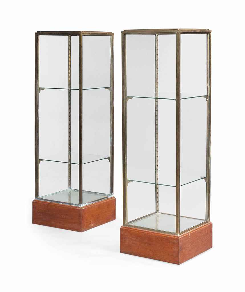 kitchen glass cabinets a pair of brass and glass display cabinets mid 20th 1766