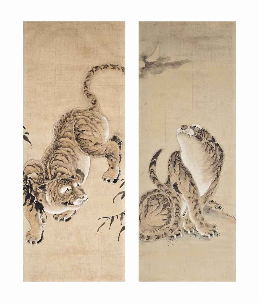 Two Framed Japanese Paintings