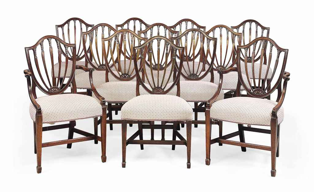 Composite Dining Set : A composite set of twelve george iii mahogany dining