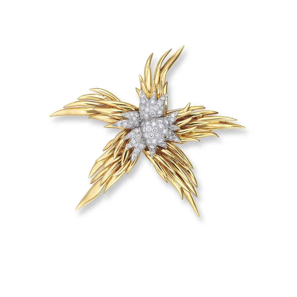 A DIAMOND 'STARFISH' BROOCH, BY JEAN SCHLUMBERGER, TIFFANY &...