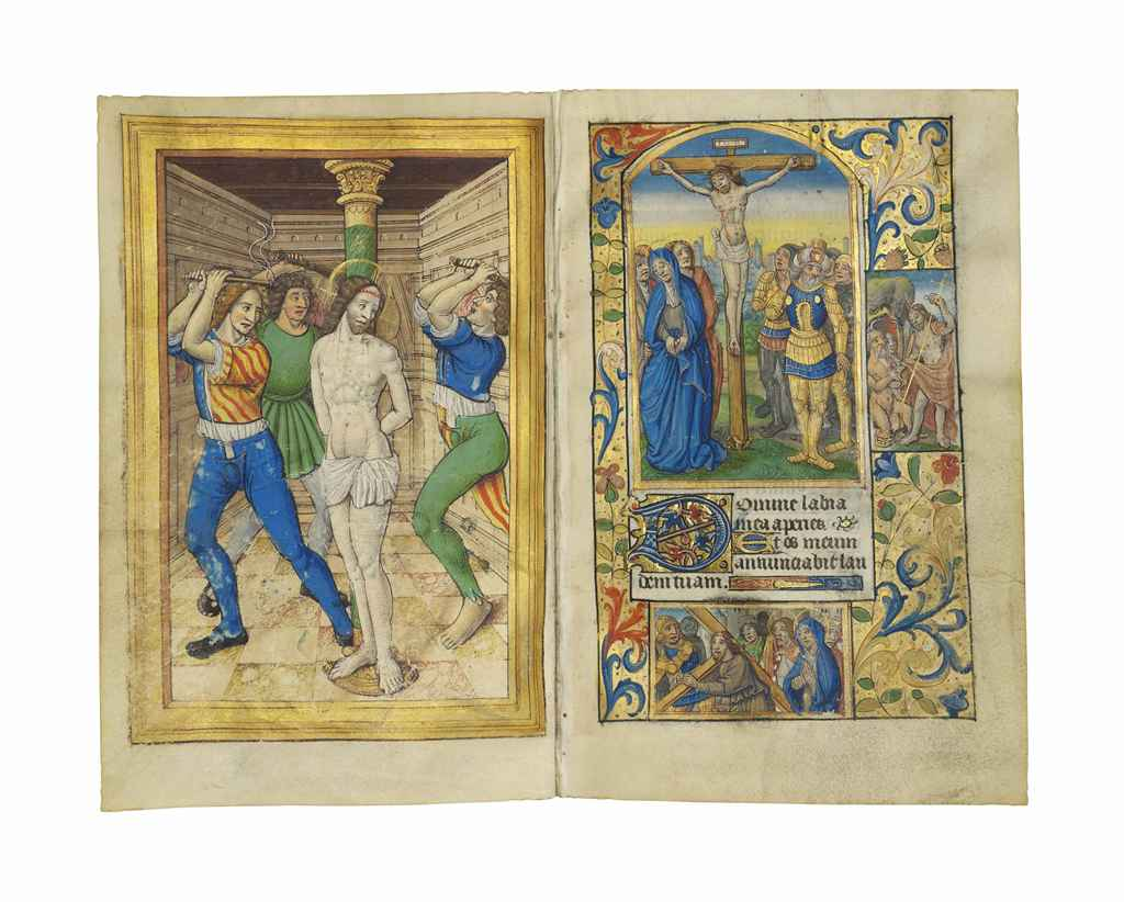 BOOK OF HOURS, use of Paris, in Latin and French, ILLUMINATE...