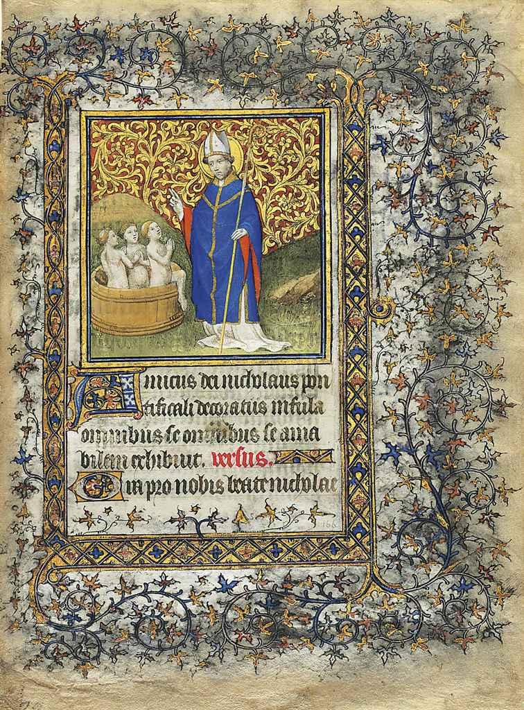 ST NICHOLAS, miniature on a le