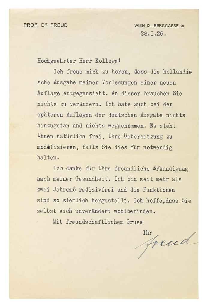 FREUD, Sigmund (1856-1939). Ty