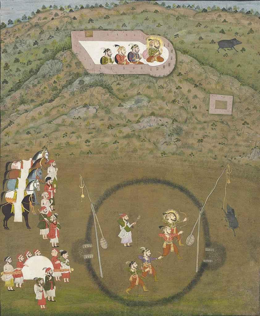 Maharana Sangram Singh hunting