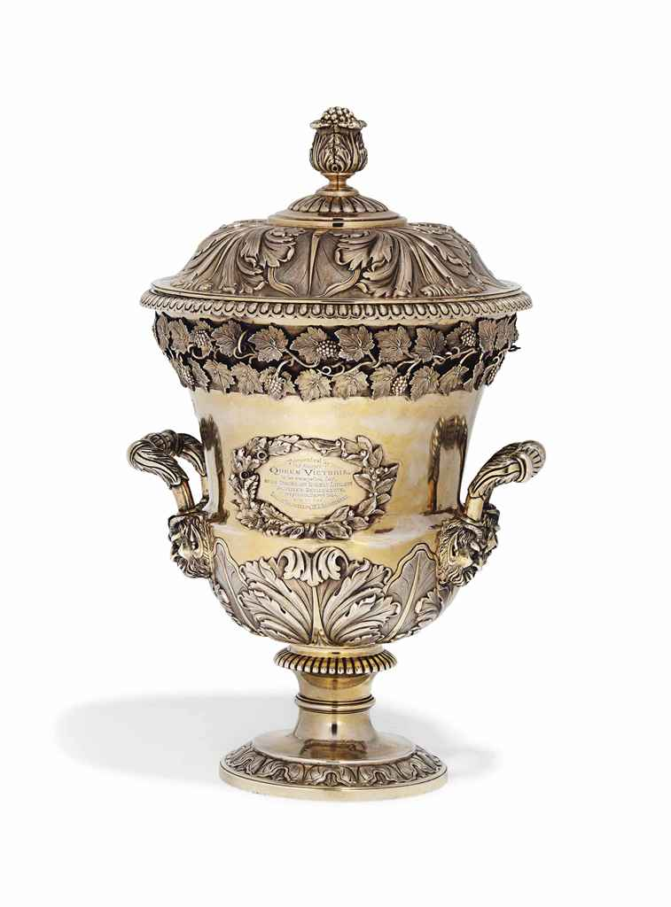 CANADIAN MILITARY INTEREST:- A SILVER-GILT CUP AND COVER IN ...