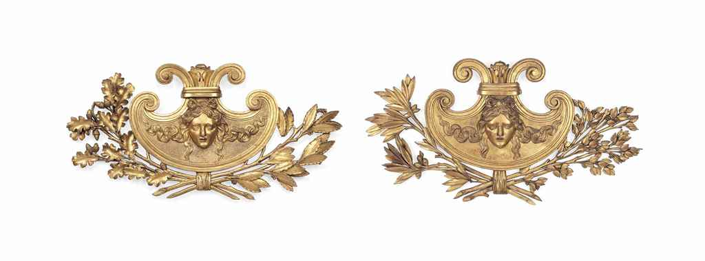 TWO PAIRS OF FRENCH EMPIRE GIL