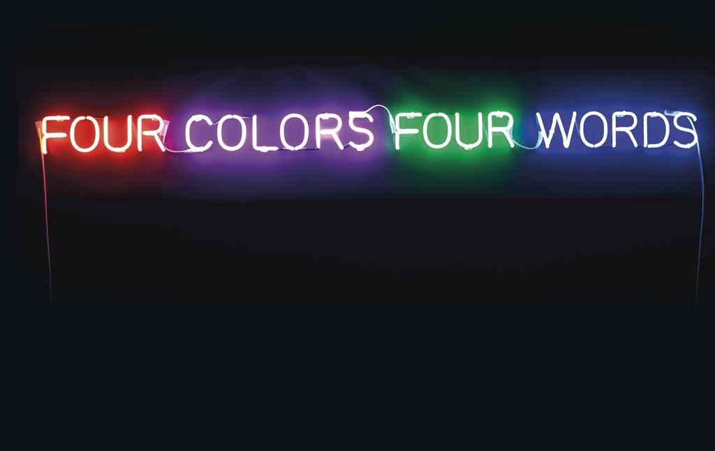 Joseph Kosuth (B. 1945) | Four Colors Four Words (Orange-Violet ...