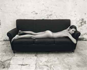 Kate on couch, for Calvin Klein Obsession for Men campaign, 1992