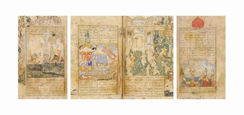 NIZAMI (D1217 AD): LAYLA WA MAJNUN, HAFT PAYKAR, ISKANDARNAM...