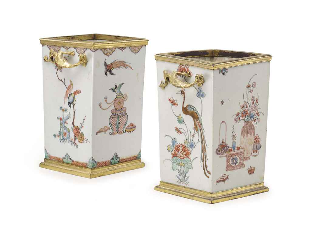 AN ASSEMBLED PAIR OF REGENCE ORMOLU-MOUNTED JAPANESE VASES ...