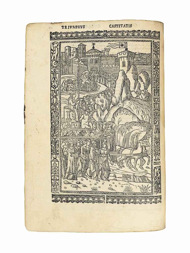 PETRARCA, Francesco (1304-1374) Triomphi di meser Francesco ...