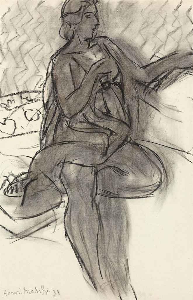 henri matisse 1869 1954 femme la jambe repli e. Black Bedroom Furniture Sets. Home Design Ideas