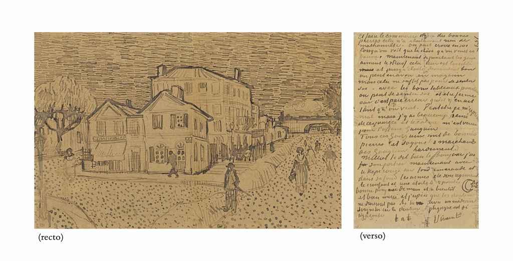 Vincent van gogh 1853 1890 la maison de vincent arles la maison jaune recto page of for La chambre jaune a arles van gogh