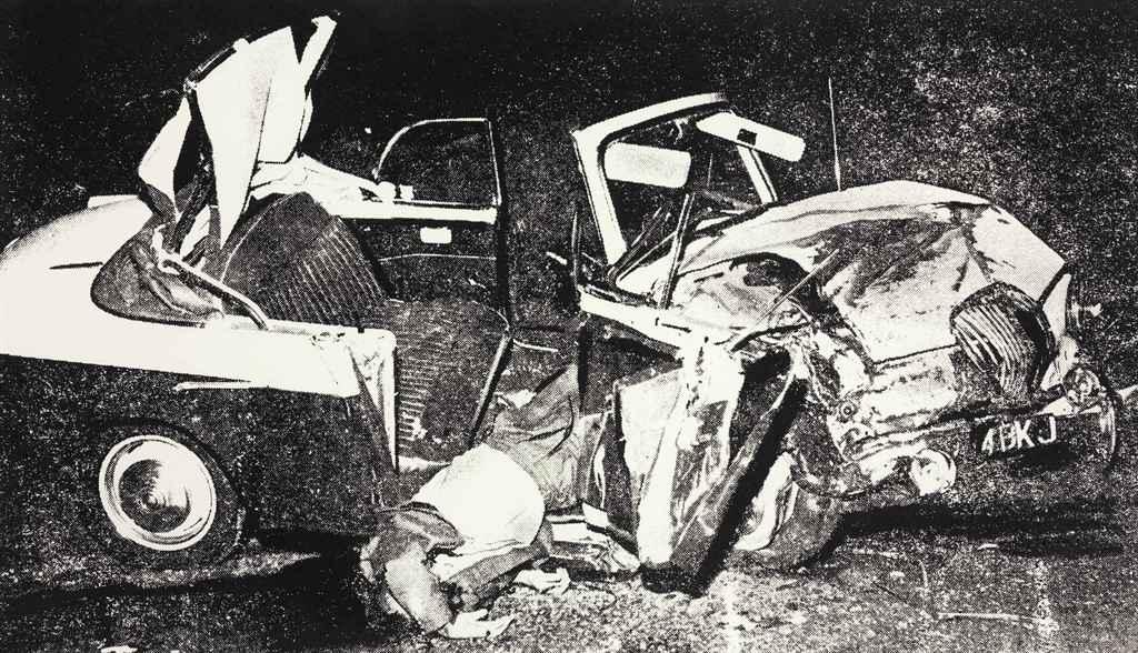 Silver Car Crash Double Disaster Close Up
