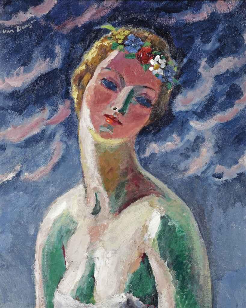 Kees van Dongen (1877-1968) , Portrait de Madame V