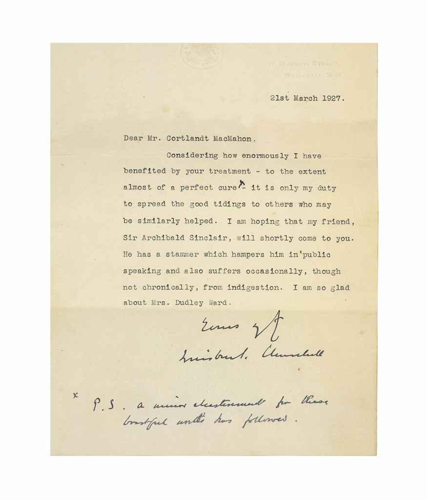 Essay Written Winston Churchill