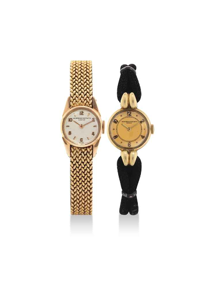 VACHERON CONSTANTIN A LADY'S 18K PINK GOLD WRISTWATCH AND A ...