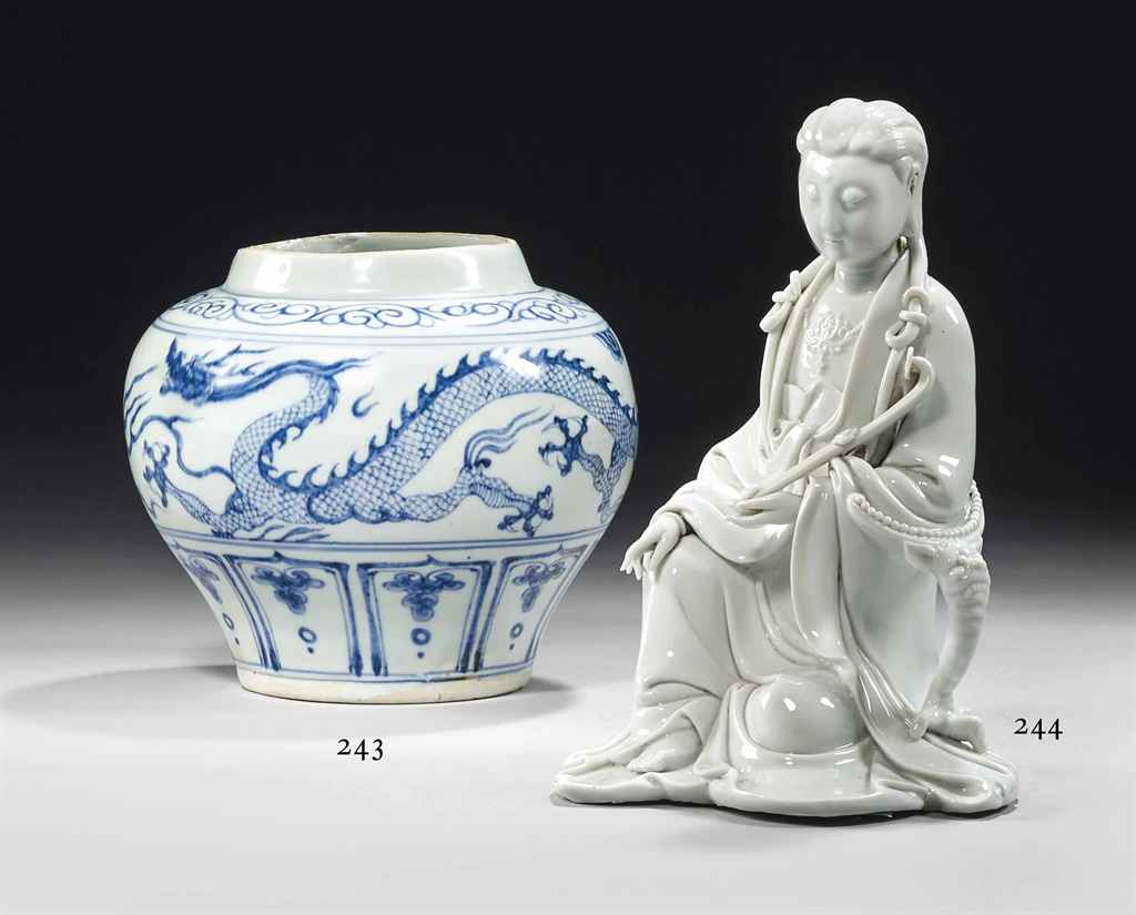 Jarre en porcelaine bleu blanc chine debut de la dynastie ming 1368 1644 christie 39 s for Porcelaine de chine