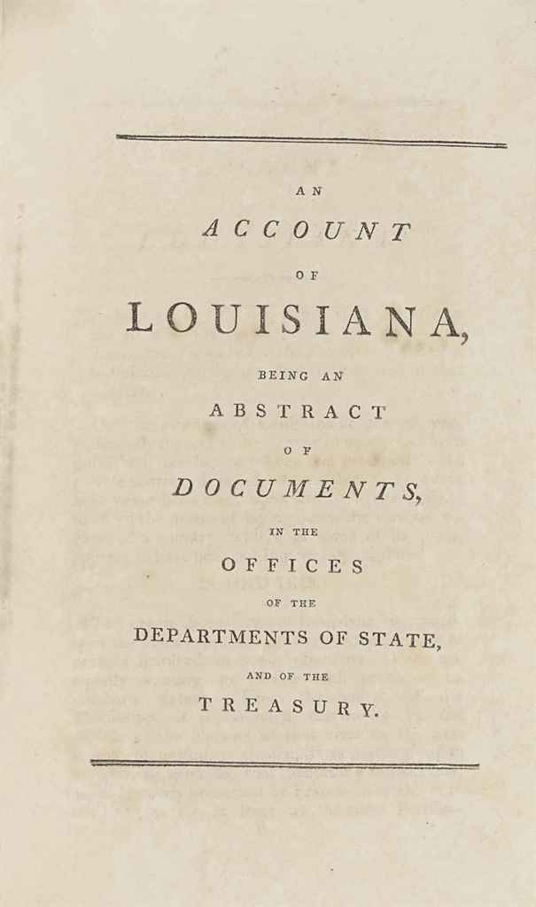 JEFFERSON, Thomas. An Account