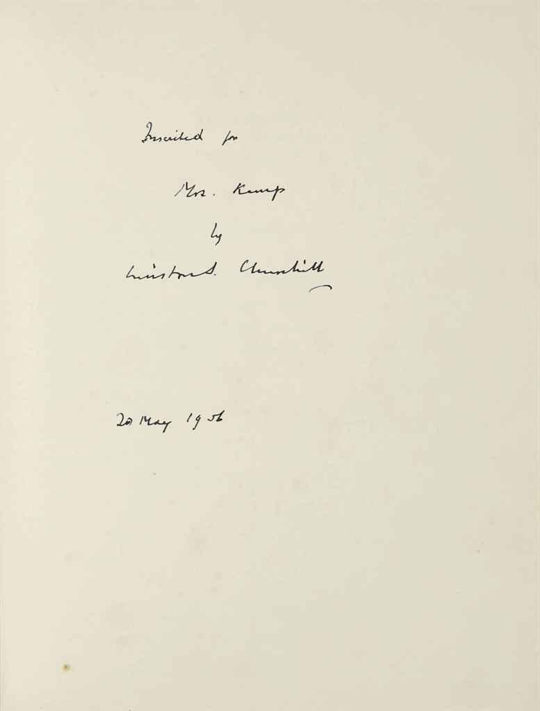 CHURCHILL, Winston S] CHURCHILL, Randolph and GERNSHEIM, He...
