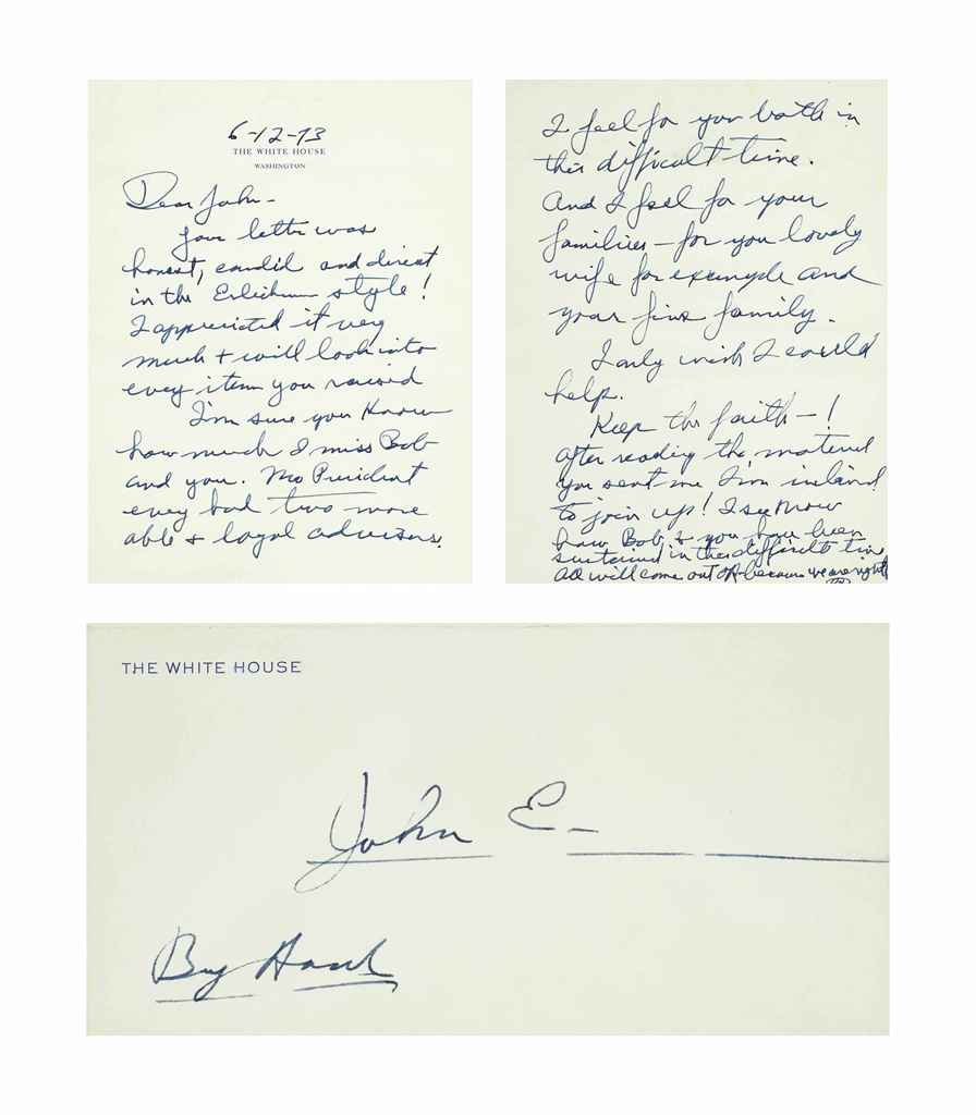 NIXON, Richard M Autograph letter signed AS PRESIDENT, TO JO...