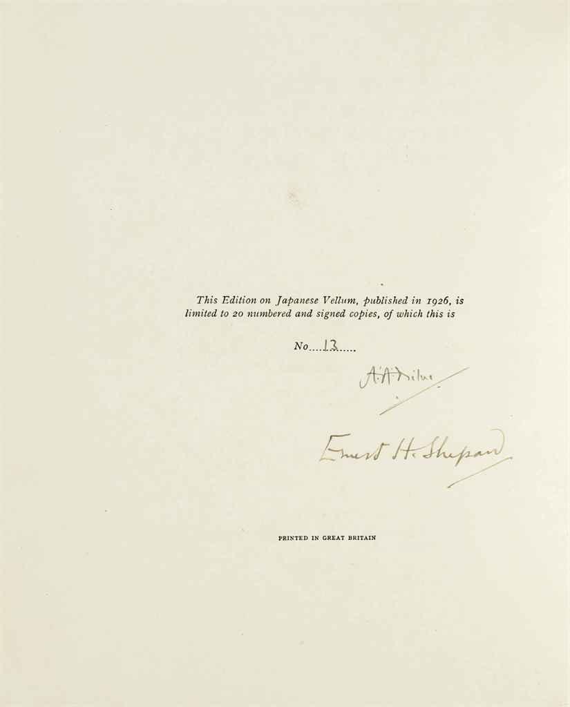MILNE, Alan Alexander. Winnie-