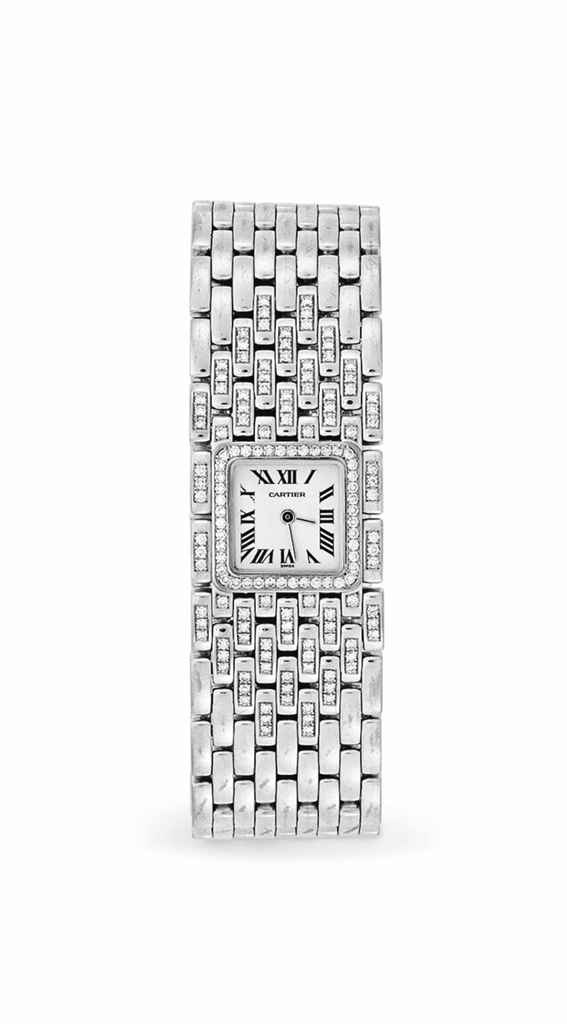 A DIAMOND AND WHITE GOLD WRIST